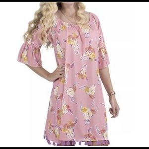 Simply southern wild bull ruffled dress